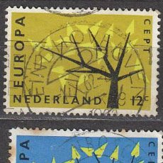 Sellos: HOLANDA IVERT 758/9, EUROPA 1962, USADO (SERIE COMPLETA). Lote 27934721