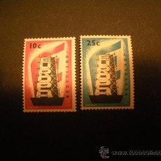 Sellos: HOLANDA 1956 IVERT 659/60 *** EUROPA. Lote 29297072