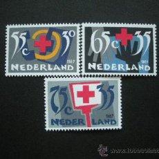 Sellos: HOLANDA 1987 IVERT 1293/5 *** CRUZ ROJA HOLANDESA. Lote 29551230