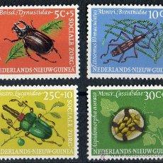 Sellos: NUEVA GUINEA HOLANDESA AÑO 1961 YV 64/67*** FAUNA - ESCARABAJOS - INSECTOS - NATURALEZA. Lote 30591611