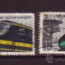 Sellos: HOLANDA 798/99 - AÑO 1964 - TRENES - 125º ANIVERSARIO DEL FERROCARRIL HOLANDES. Lote 32868155
