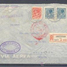 Sellos: 1935.- AMSTERDAN (HOLANDA) A ASUNCION (PARAGUAY). Lote 35427772