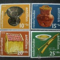 Sellos: ANTILLAS HOLANDESAS 1971 IVERT 418/21 *** PRO OBRAS SOCIALES Y CULTURALES - ARTESANIA. Lote 35802857