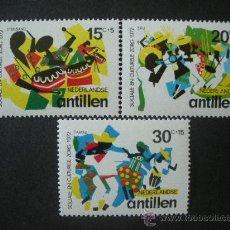 Sellos: ANTILLAS HOLANDESAS 1972 IVERT 434/6 *** PRO OBRAS SOCIALES Y CULTURALES - INSTRUMENTOS MUSICALES. Lote 35813691