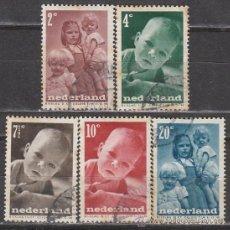 Sellos: HOLANDA IVERT Nº 483/7 (AÑO 1948), POR LA INFANCIA, USADO. Lote 35817607