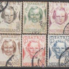 Sellos: HOLANDA IVERT Nº 451/6 (AÑO 1946), PRO ANTITUBERCULOSOS, USADOS. Lote 35817823