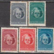 Sellos: HOLANDA IVERT Nº 434/8 (AÑO 1945), PRO OBRAS A FAVOR DE LA INFANCIA, NUEVOS SIN CHARNELA. Lote 35817853
