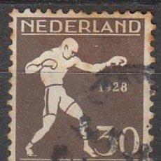 Sellos: HOLANDA IVERT Nº 206 (AÑO 1928), BOXEO (JUEGOS OLIMPICOS DE AMSTERDAM), USADO. Lote 35817990
