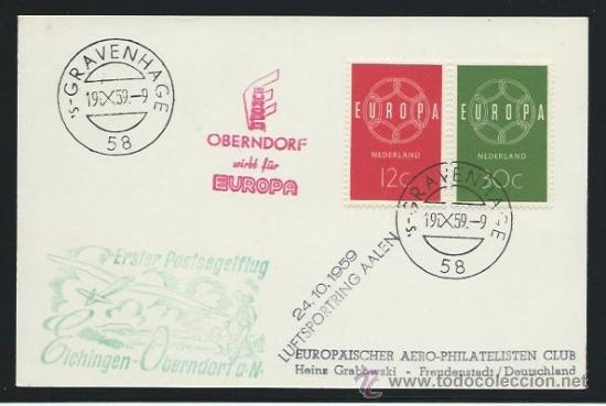 1959. HOLANDA A ALEMANIA. CARTA CON SELLOS DE HOLANDA (Sellos - Extranjero - Europa - Holanda)