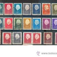 Sellos: HOLANDA, REINA JULIANA.- 1953/67- LOTE DE SELLOS CON VARIACIONES DE DENTADO.. Lote 36683739