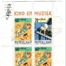 Sellos: HOLANDA. 1992. PRO INFANCIA. HB 37. Lote 37199165