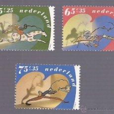 Sellos: -54027 3 SELLOS HOLANDA, HOLANDA, DIBUJOS, AÑO 1990. Lote 41203500