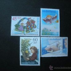 Sellos: HOLANDA 1980 IVERT 1141/4 *** PRO INFANCIA - EL NIÑO Y LOS LIBROS - INFANTIL. Lote 41408338