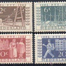 Sellos: HOLANDA AÑO 1952 YV 578/81*** EXPOSICIÓN FILATÉLICA DE UTRECH - CORREOS Y TELECOMUNICACIONES. Lote 42005897