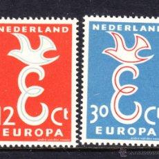 Sellos: HOLANDA 691/92* - AÑO 1958 - EUROPA. Lote 45156052