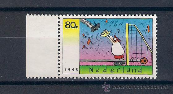 FÚTBOL EN HOLANDA. AÑO 1998 (Sellos - Extranjero - Europa - Holanda)