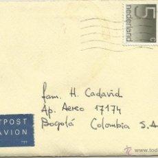 Sellos: 1980 - CORREO AÉREO DIRIGIDO A COLOMBIA - HOLANDA. Lote 50144748