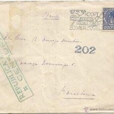 Sellos: 1938 - CARTA DIRIGIDA DE ROTERDAM A BARCELONA - HOLANDA. Lote 50323480