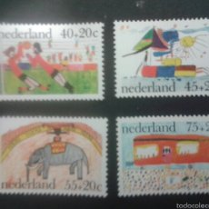 Sellos: SELLOS DE HOLANDA. DIBUJOS INFANTILES. YVERT 1059/62. SERIE COMPLETA NUEVA SIN CHARNELA.. Lote 52641140