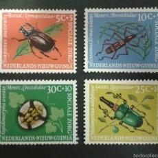 Sellos: SELLOS DE NUEVA GUINEA HOLANDESA. YVERT 64/7. SERIE CTA NUEVA SIN CHARNELA. INSECTOS. COLEÓPTEROS. Lote 53986862