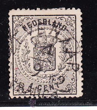HOLANDA 14 USADA, ESCUDO NACIONAL, (Sellos - Extranjero - Europa - Holanda)