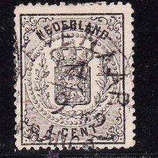 Sellos: HOLANDA 14 USADA, ESCUDO NACIONAL, . Lote 54051023