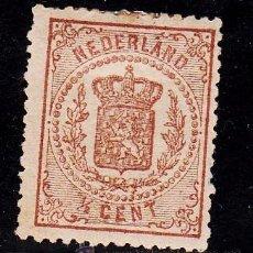 Sellos: HOLANDA 13 CON CHARNELA, ESCUDO NACIONAL, . Lote 54051122