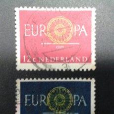Sellos: SELLOS DE HOLANDA. EUROPA CEPT. YVERT 726/7. SERIE COMPLETA USADA.. Lote 55103955