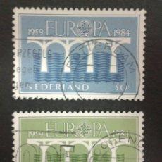 Sellos: SELLOS DE HOLANDA. YVERT 1221/2. EUROPA CEPT. SERIE COMPLETA USADA. PUENTES. Lote 55109869