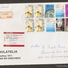 Sellos: PAISES BAJOS.1988. CARTA CERTIFICADA CON FRANQUEO DIVERSO AÑO 78. Lote 58215084