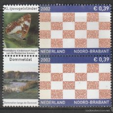 Sellos: HOLANDA 2002.PAREJA. PROVINCIAS: NOORD-BRABANT . *,MH. Lote 58605887