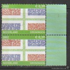 Sellos: HOLANDA 2002.PAREJA. PROVINCIAS: GRONINGEN . *,MH. Lote 58605913