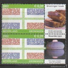 Sellos: HOLANDA 2002.PAREJA. PROVINCIAS: GRONINGEN . *,MH. Lote 58605921
