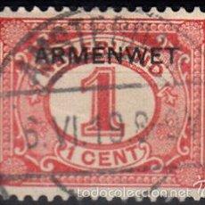 Sellos: IVERT SERVICIO 1. USADO. SELLO DE 1898-99 SOBRECARGADOS EN 1918-19.. . Lote 141228416