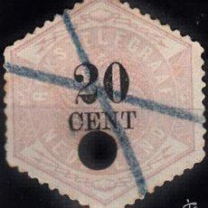 Sellos: IVERT TELÉGRAFO 6. TALADRADO. SELLO DE 1877-1903.. Lote 60079059