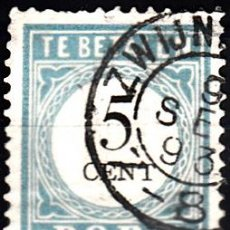 Sellos: HOLANDA 1881. YVERT TASA 6 USADO. . Lote 141228661