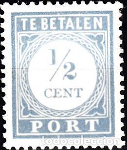 HOLANDA 1912-22. YVERT TASA 44 NUEVO CON FIJASELLOS. (Sellos - Extranjero - Europa - Holanda)