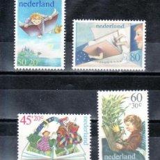 Sellos: HOLANDA / NETHERLAND AÑO 1980 YVERT Nº 1141/44 ** MNH - PRO OBRAS POR LA INFANCIA - LIBROS Y CUENTOS. Lote 195375140