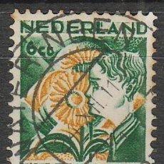 Sellos: HOLANDA IVERT Nº 247, GIRASOL, EN BENEFICIO DE LAS OBRAS PARA LA INFANCIA, USADO (AÑO 1932). Lote 70991997
