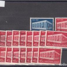 Sellos: HOLANDA 893/4 LOTE DE 20 SERIES USADA, TEMA EUROPA 1969. Lote 83900580