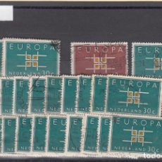 Sellos: HOLANDA 780/1 LOTE DE 25 SERIES USADA, TEMA EUROPA 1963. Lote 83901268