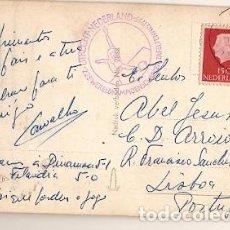 Sellos: HOLANDA & BILHETE POSTAL, DOMTOREN UTRECHT, LISBOA PORTUGAL 1955 (244) . Lote 84776264