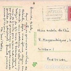 Sellos: HOLANDA & BILHETE POSTAL, SCHEVENINGEN, HAIA, PARA LISBOA PORTUGAL 1975 (247). Lote 84776996