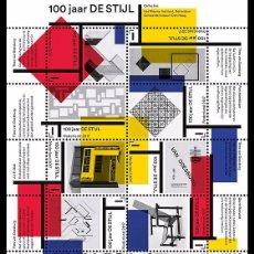 Sellos: NETHERLANDS 2017 - DE STIJL SOUVENIR SHEET MNH. Lote 90380916