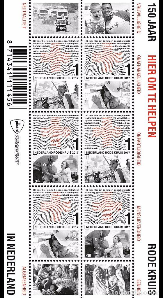 NETHERLANDS 2017 - 150 YEARS OF RED CROSS IN THE NETHERLANDS SOUVENIR SHEET MNH (Sellos - Extranjero - Europa - Holanda)