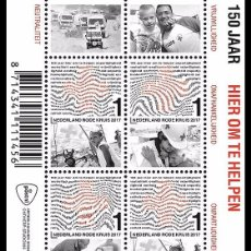 Sellos: NETHERLANDS 2017 - 150 YEARS OF RED CROSS IN THE NETHERLANDS SOUVENIR SHEET MNH. Lote 90381164
