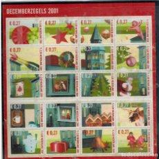 Sellos: HOJA BLOQUE DE HOLANDA NAVIDAD 2001. Lote 98451675