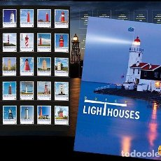 Sellos: NETHERLANDS 2017 - SPECIAL PRESENTATION PACK - 25 LIGHTHOUSES OF THE NETHERLANDS. Lote 100404211