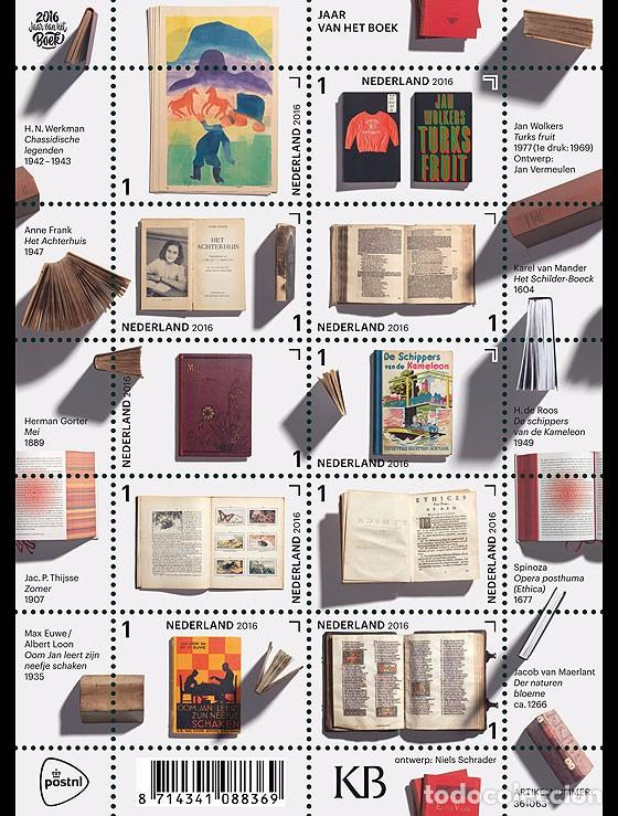 Sellos: Netherlands 2016 - Year of the Book souvenir sheet mnh - Foto 1 - 100404399
