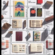 Sellos: NETHERLANDS 2016 - YEAR OF THE BOOK SOUVENIR SHEET MNH. Lote 100404399
